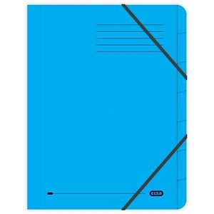 Image of Elba Boston Part File Pressboard Elasticated 7-Part Foolscap Blue Ref 100090169 [Pack 5]