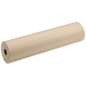 Image of Kraft Paper Packaging Roll / 70gsm / 800mmx240m / Brown