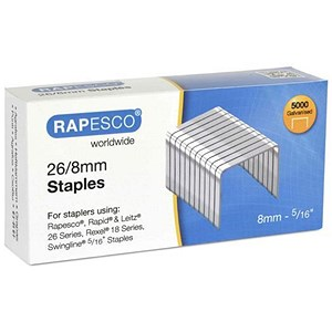 Image of Rapesco Staples 26/8mm - Pack of 5000