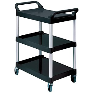 Image of Rubbermaid 3 Tier Utility Cart - Black
