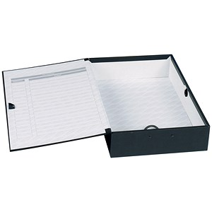 Image of Concord Classic Box File / 75mm Spine / Foolscap / Black / Pack of 5