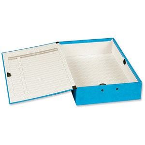 Image of Concord Contrast Laminated Box File / 75mm Spine / Foolscap / Sky Blue / Pack of 5