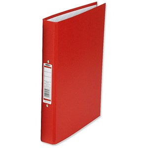 Image of Concord Classic Ring Binder / 2 O-Ring / 40mm Spine / 25mm Capacity / A4 / Red / Pack of 10