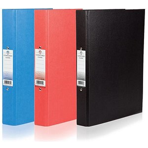 Image of Concord Classic Ring Binder / 2 O-Ring / 40mm Spine / 25mm Capacity / A4 / Assorted / Pack of 10