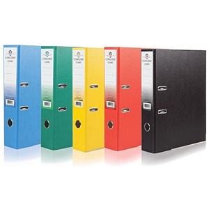 Image of Concord Classic A4 Lever Arch Files / Printed Lining / 70mm Spine / Assorted / Pack of 10