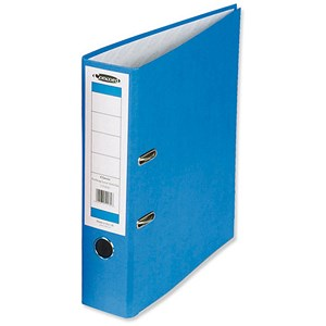 Image of Concord Classic Foolscap Lever Arch Files / Printed Lining / 70mm Spine / Blue / Pack of 10