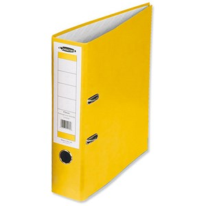 Image of Concord Classic Foolscap Lever Arch Files / Printed Lining / 70mm Spine / Yellow / Pack of 10