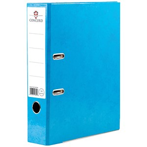 Image of Concord Contrast A4 Lever Arch Files / Laminated / 65mm Spine / Sky Blue / Pack of 10