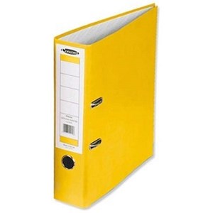 Image of Concord Contrast A4 Lever Arch Files / Laminated / 65mm Spine / Sunflower / Pack of 10