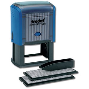 Image of Trodat 4927 Printy Typo D-I-Y Stamp Kit / Ink, Tweezers & Lettering 3mm 4mm / 8 Lines of Text