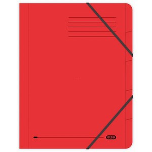 Image of Elba Boston Part File Pressboard Elasticated 5-Part Foolscap Red Ref 100090167 [Pack 5]