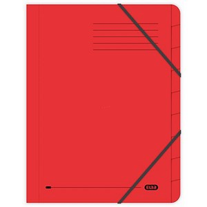 Image of Elba Boston Part File Pressboard Elasticated 9-Part Foolscap Red Ref 100090174 [Pack 5]