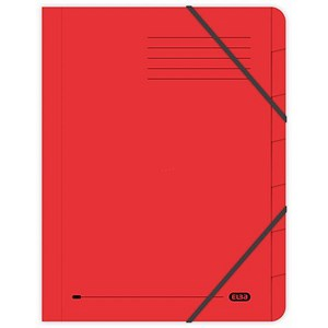 Image of Elba Boston Elasticated Files / 7-Part / Foolscap / Red / Pack of 5