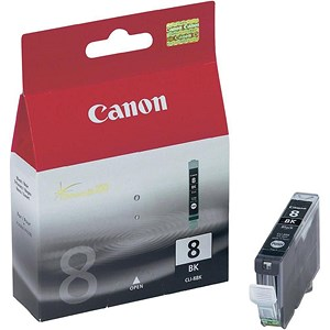 Image of Canon CLI-8BK Inkjet Cartridge Photo Black Ref 0620B001