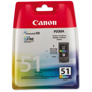Image of Canon CL-51 Colour Inkjet Cartridge
