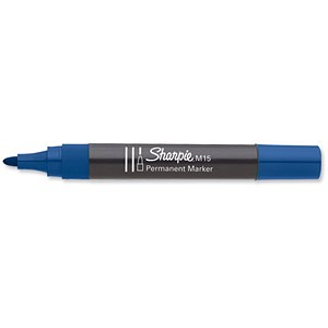 Image of Sharpie M15 Permanent Marker / Bullet Tip / Blue / Pack of 12