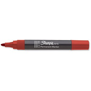 Image of Sharpie M15 Permanent Marker / Bullet Tip / Red / Pack of 12
