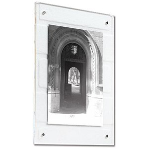 Image of A4 Clear Acrylic Wall Picture Frame - Magnet Closure with Fixings