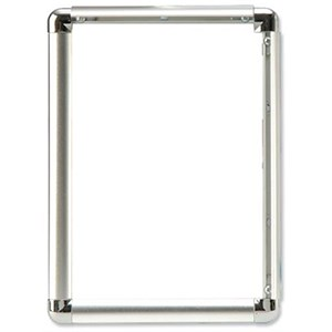 Image of Display Frame Aluminium Front Loading with Fixings A3