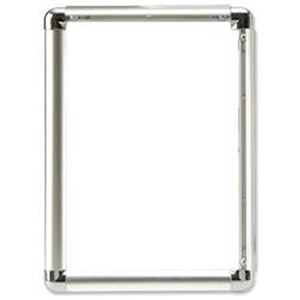 Image of Display Frame Aluminium Front Loading with Fixings A1