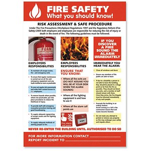 Image of Stewart Superior Fire Safety Laminated Guidance Poster W420xH595mm Ref HS105