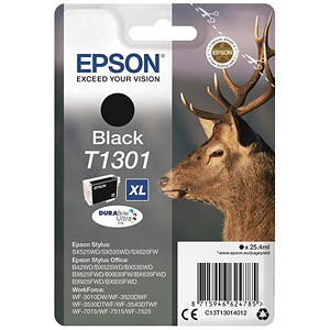 Image of Epson T1301 XL Black DURABrite Inkjet Cartridge