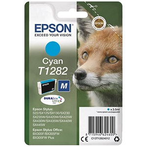 Image of Epson T1282 Cyan DURABrite Inkjet Cartridge