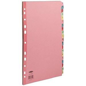 Image of Concord Subject Dividers / A-Z / Multicoloured Mylar Tabs / A4 / Assorted