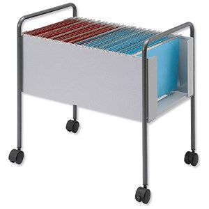 Image of Steel Suspension Filing Trolley for 100 Foolscap Suspension Files
