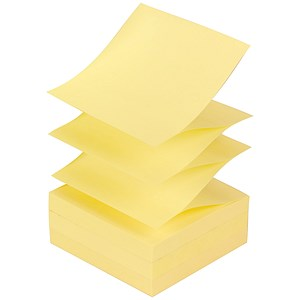 Image of Post-it Z Notes / 76x 76mm / Canary Yellow / Pack of 12 x 100 Notes