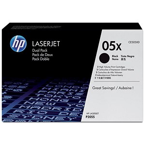 Image of HP 05X Black Laser Toner Cartridge (Twin Pack)