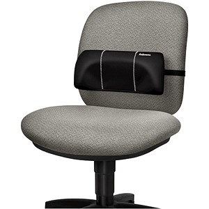 Image of Fellowes Portable Lumbar Support / Soft-brushed Cover / Adjustable Straps