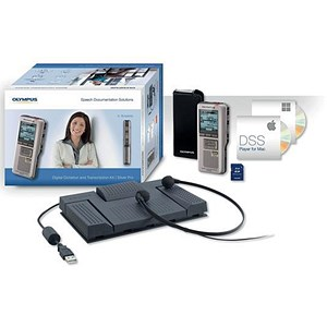 Image of Olympus DS2500 148-303Hrs Recording and AS2400 Transcription Starter Kit USB 2GB Ref DS2500AS2400