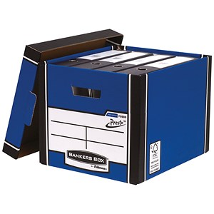 Image of Fellowes Premium 726 Archive Bankers Box / Blue & White / Pack of 10