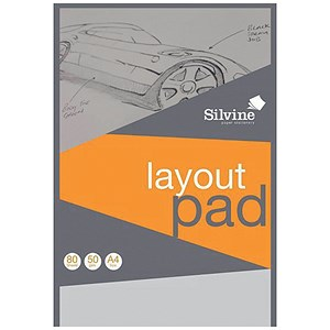 Image of Silvine Layout Pad / A4 / Acid Free / 50gsm / 80 Sheets