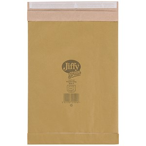 Image of Jiffy No.5 Padded Bag Envelopes / 245x381mm / Brown / Pack of 100