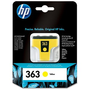 Image of HP 363 Yellow Ink Cartridge