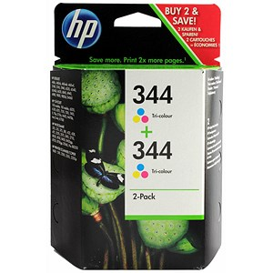 Image of HP 344 Colour Ink Cartridge (Twin Pack)