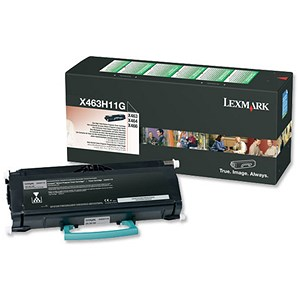 Image of Lexmark X463H11G High Yield Black Laser Toner Cartridge