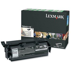 Image of Lexmark T654X11E Extra High Yield Black Laser Toner Cartridge