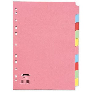 Image of Concord Subject Dividers / 10-Part / A4 / Assorted