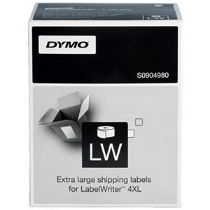 Image of Dymo 4XL Labels 104x159mm [for Labelwriter 4XL] White Ref S0904980 [220 Labels]