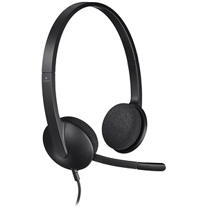 Image of Logitech H340 Lightweight USB Headset with Noise-cancelling Microphone