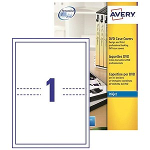 Avery dvd case inkjet inserts 273x183mm j8437 25 for Avery dvd case template
