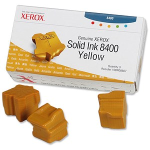 Image of Xerox Phaser 8400 Yellow Solid Ink Sticks (Pack of 3)