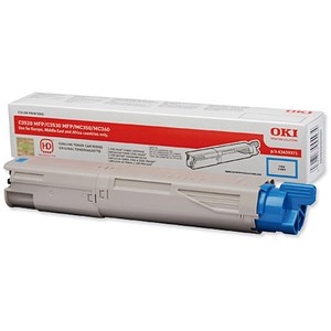 Image of Oki 43459371 Cyan Laser Toner Cartridge