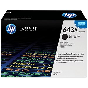 Image of HP 643A Black Laser Toner Cartridge