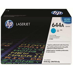 Image of HP 644A Cyan Laser Toner Cartridge