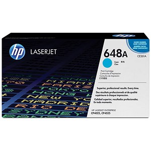 Image of HP 648A Cyan Laser Toner Cartridge