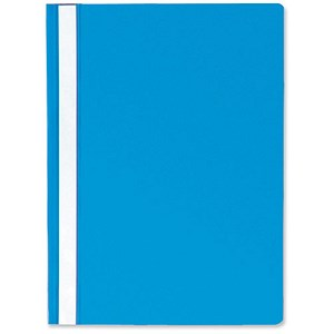 Image of Rexel Report Flat Files with Indexing Strip / Lightweight Polypropylene / A4 / Blue / Pack of 25